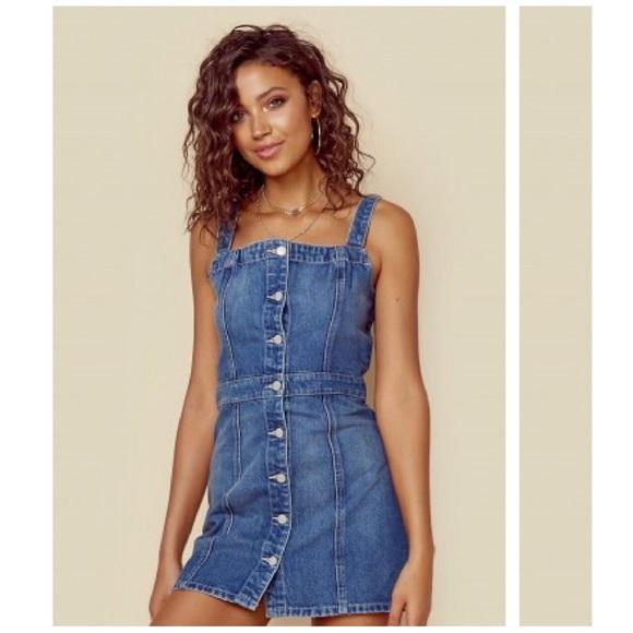 d05a45c42a Boyish Dresses   Skirts - Planet Blue boyish button down denim mini dress